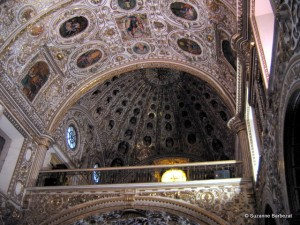 Ornate decoration of Santo Domingo church