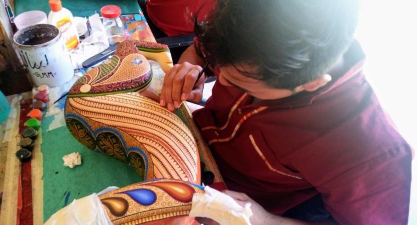 Painting an alebrije