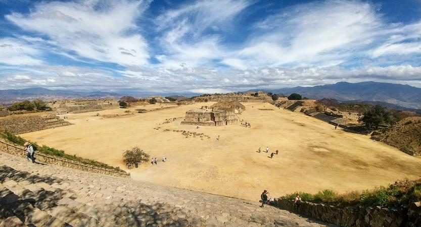 Monte Alban viewed from the south platform